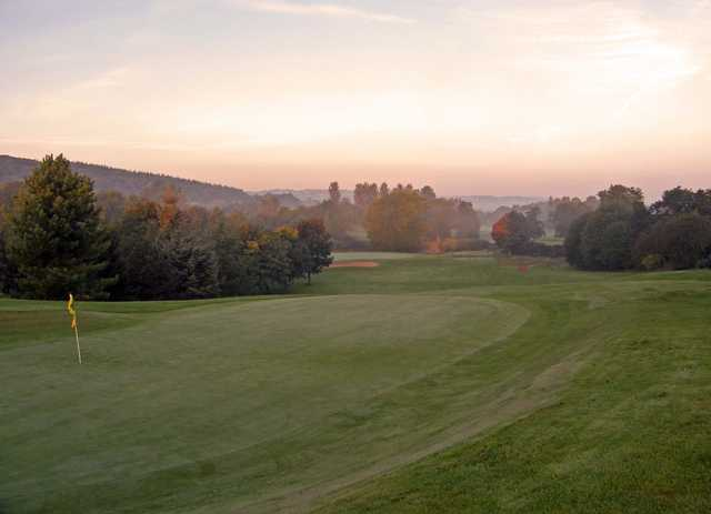 A view of hole #18 at  Padeswood and Buckley Golf Club