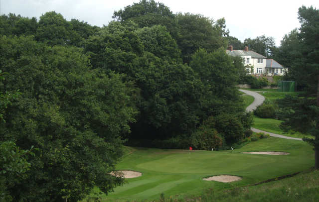 A view of green protected by bunkers at Hawarden Golf Club