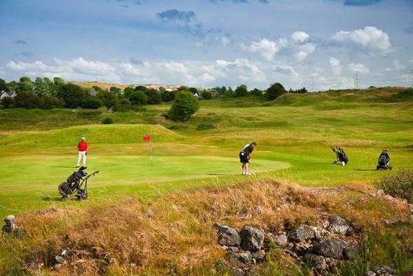 A view of the 12th green at Holywell Golf Club