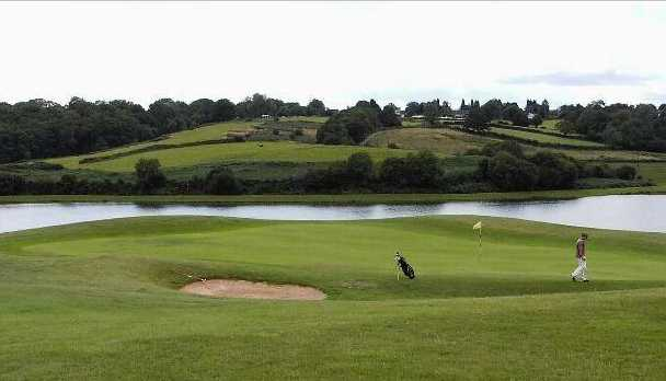 A view of green with water coming into play at Tredegar Park Golf Club