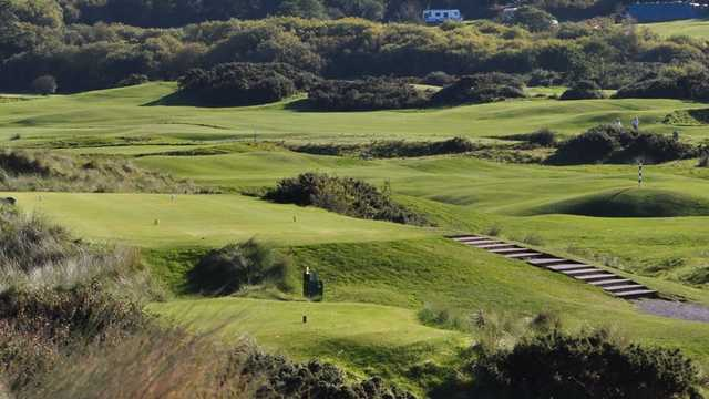 A view of tee at Abersoch Golf Club