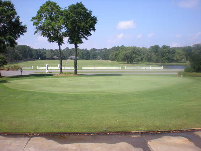 A view of the practice area at Bluewater Bay Resort