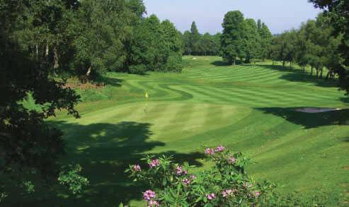 A view of the 16th green at Aspley Guise & Woburn Sands Golf Club