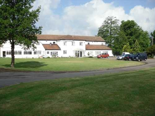 A view of the clubhouse at Beadlow Manor Golf Club