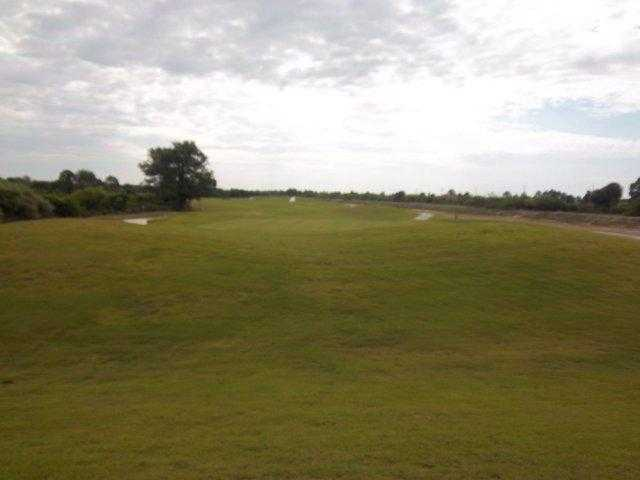 A view of green guarded by bunkers at Copperhead Golf Club