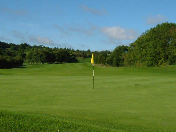 A view of green #3 at Dunstable Downs Golf Club