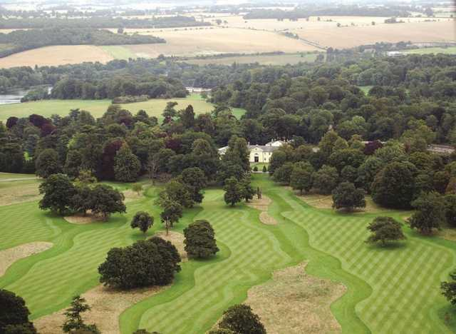 An aerial view of Luton Hoo Hotel, Golf and Spa, Bedfordshire, England
