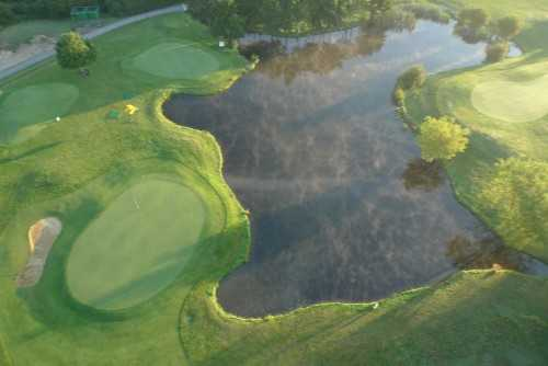 Aerial view from Billingbear Park Golf Club