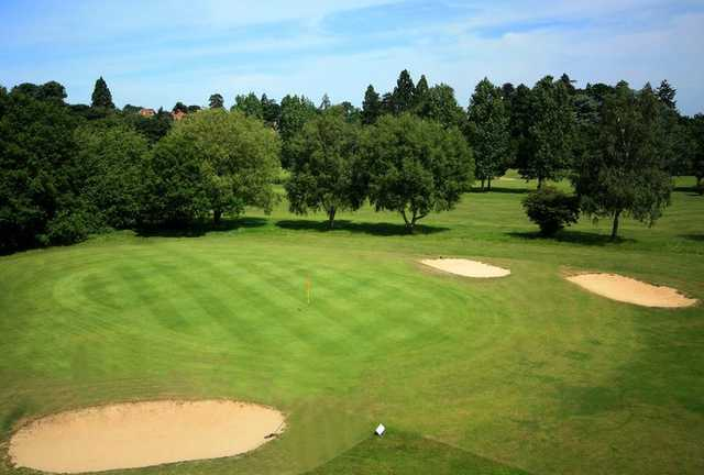 A view of the 12th green at Championship Course from Downshire Golf Complex
