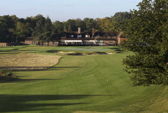 A view of the clubhouse at Sonning Golf Club.