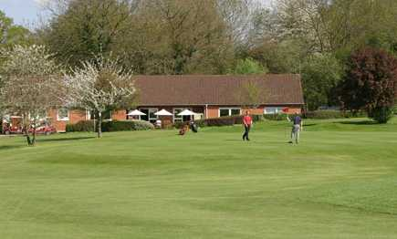 A spring view of the clubhouse at West Berkshire Golf Club