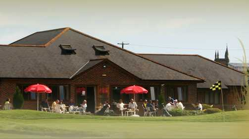A view of the clubhouse at Theale Golf Club