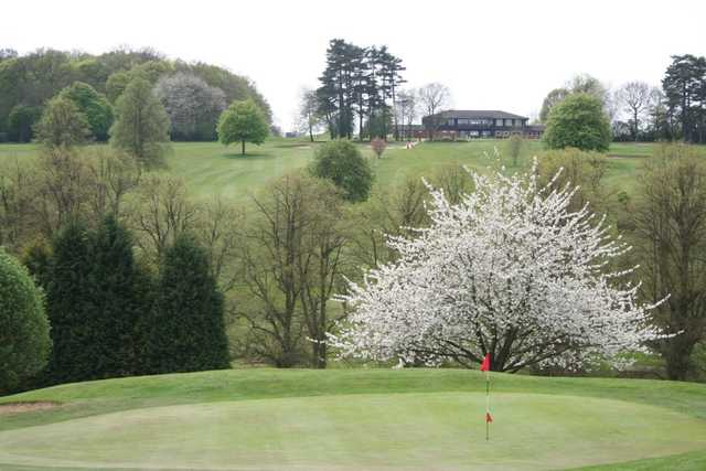 A view of the 14th green at Hazlemere Golf Club
