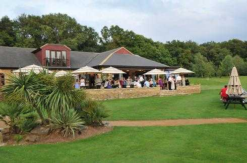 A view of the clubhouse at Huntswood Golf Club