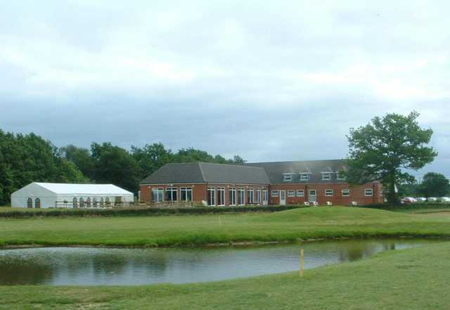 A view of the clubhouse at Silverstone Golf Club