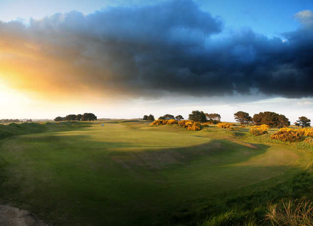 A view of the 18th hole at Championship Course from Portmarnock Golf Club