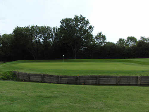 A view of the 10th green at Bourn Golf Club