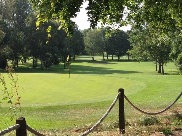 A view of the 14th hole at Ely City Golf Club