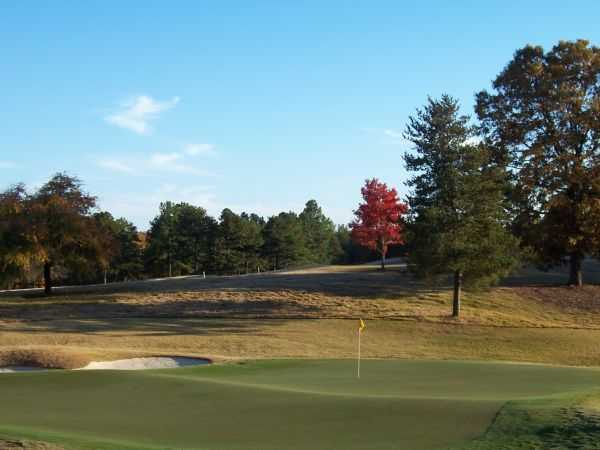 A view of the 10th green from The Preserve at Verdae