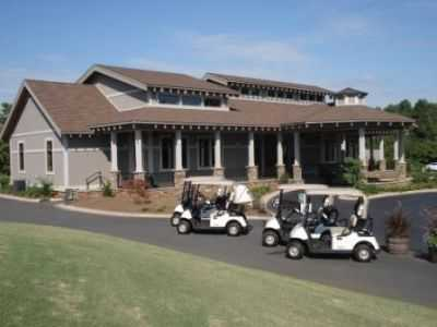 A view of the clubhouse at Village Greens Golf & Country Club