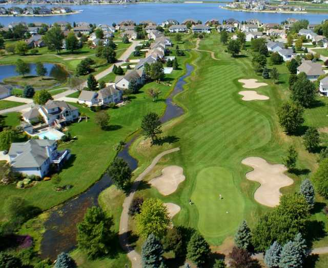Aerial view from Gleneagle Golf Club