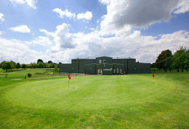 A view of the practice area at Orton Meadows Golf Course
