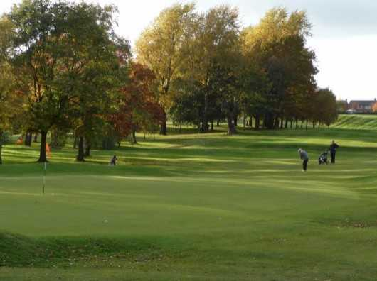 A view of green #12 at Alderley Edge Golf Club