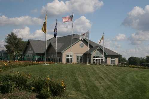 A view of the clubhouse at University Park Golf Club