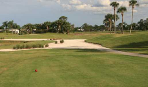 A view from the red tee at Heritage Ridge Golf Club