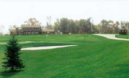 A view of the clubhouse at Flatbush Golf Course