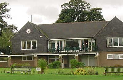 A view of the clubhouse at Congleton Golf Club
