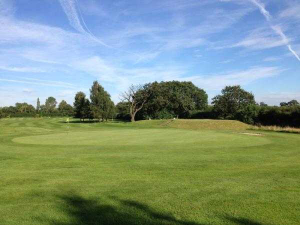 A view of the 1st green at Helsby Golf Club