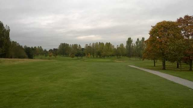 Approach to the 1st at Malkins Bank Golf Club