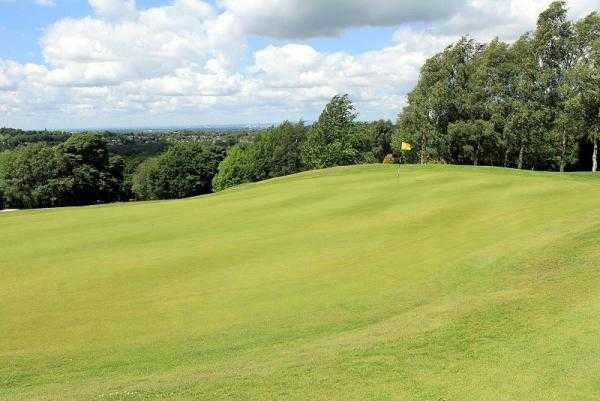 A view of green #7 at Mellor & Townscliffe Golf Club