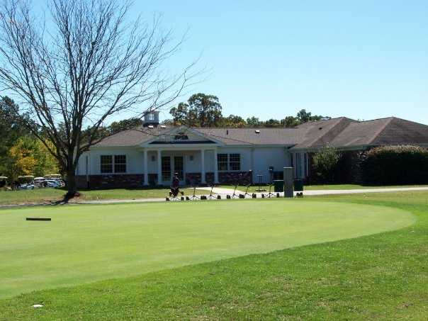 A view of the clubhouse at Frances E. Miller Memorial Golf Course