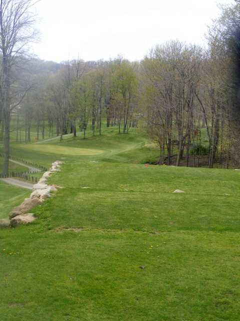 A view from the 14th tee at Spring Valley Country Club