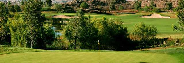 A view of a green at Hemet Golf Club