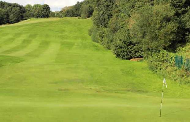 A view of the 10th hole at Reddish Vale Golf Club
