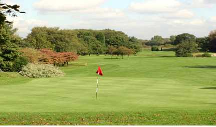 A view of the 18th green at Sale Golf Club