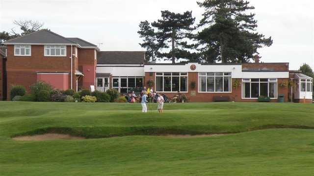 A view of the clubhouse at Vicars Cross Golf Club