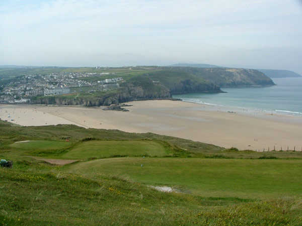 A view of tee at Perranporth Golf Club