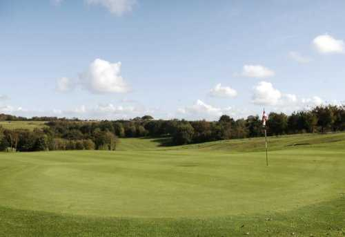 A view of the 9th green at Trethorne Golf Club & Hotel