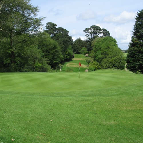 A view of the 16th green at Truro Golf Club