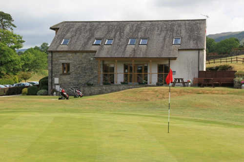 A view of the 9th green and clubhouse in background at 9-hole Course from Casterton Golf Club