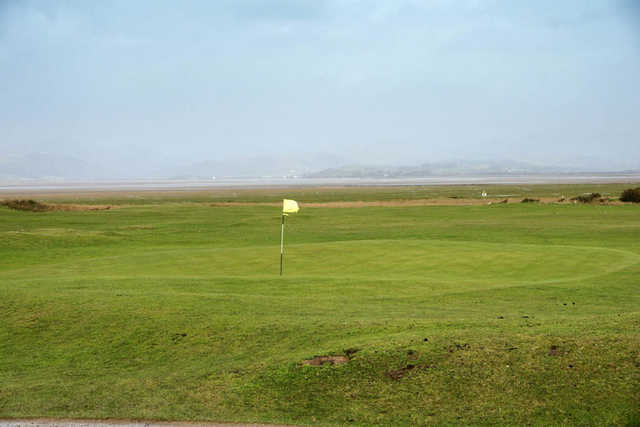 A view of the 5th hole at Dunnerholme Golf Club