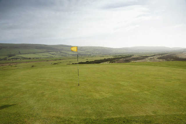 A view of the 6th green at Dunnerholme Golf Club
