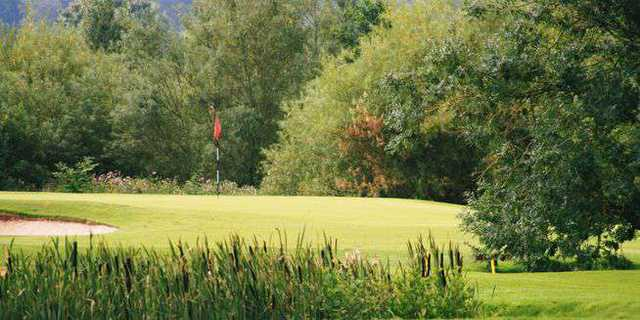 A view of well protected green at Eden Course from Eden Golf Club