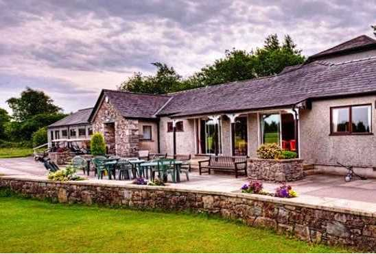 A view of the clubhouse at Grange-over-Sands Golf Club