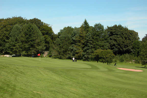 A view of green #2 at Ulverston Golf Club