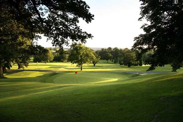 A view of the 12th green at Priory Course from Breadsall Priory Golf & Country Club